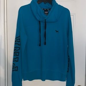 Blue pull over sweater